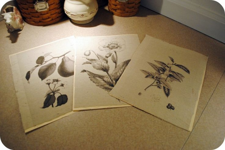 Print images directly onto drop cloth using an ink jet printer.  I've also seen this done with burlap.