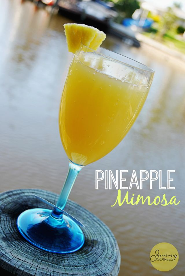 Create a Pineapple Mimosa at Your Next Event #mimosa #pineapple
