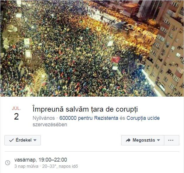 Tüntetés sorozat veszi kezdetét egy facebook- os hirdetés alapján ami július 2 - dikán veszi kezdödik romániai óra alapján 19:00 órai kezdéssel http://ahiramiszamit.blogspot.ro/2017/06/tuntetes-sorozat-veszi-kezdetet-egy.html