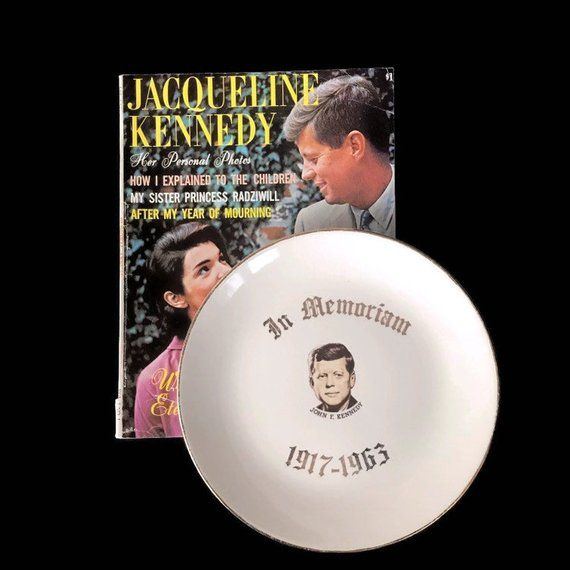 John F Kennedy Commemorative Plate Vintage