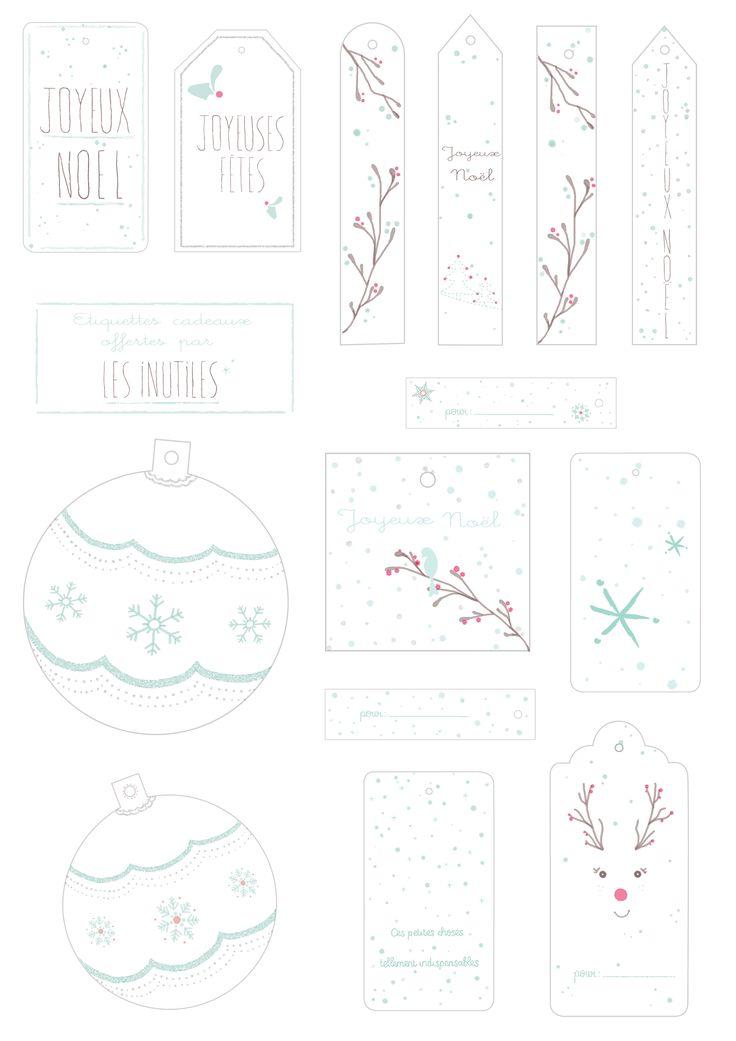 Etiquettes cadeaux à imprimer * Les inutiles * free gift tags printable