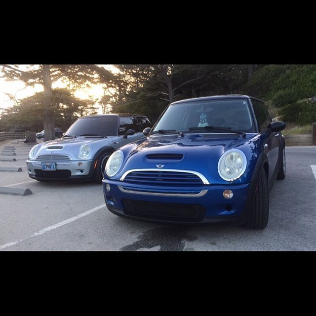 🚙💨💙 #LittleBlue #MiniCooperS #MiniCooper #squad #MontereyMinis #fastcars #turbo #love #pebblebeach #montereybay #montereybaylocals - posted by Jacqueline Marie Quaresma➹ https://www.instagram.com/_jackimarie - See more of Monterey Bay at http://montereybaylocals.com