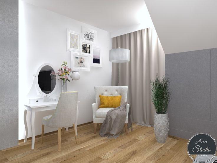 Przytulna sypialnia w wersji bez i z łóżeczkiem dla dziecka. - Ano Studio - Architekt Wnętrz