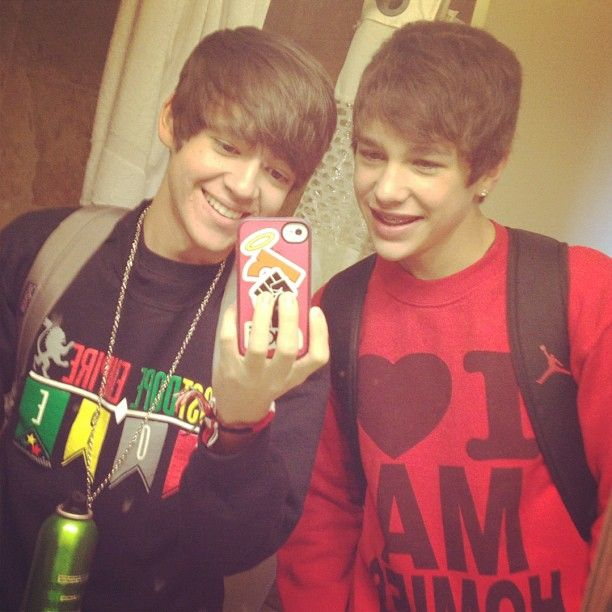 Alex Constancio and Austin Mahone. Best friends over a pair of shoes