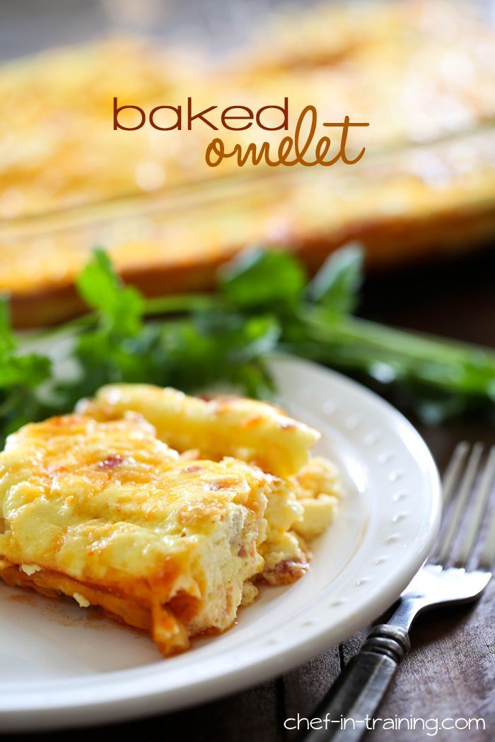 Baked Cheesy Omelet from chef-in-training.com ...The easiest and quickest way to make an omelet! So delicious too!