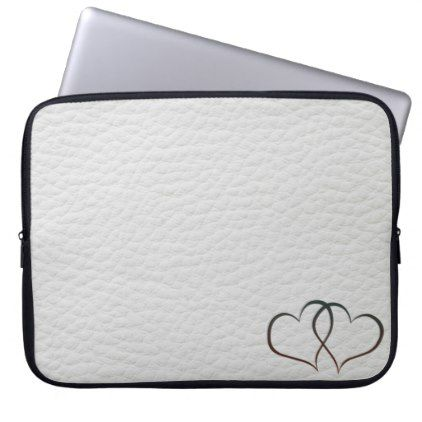 Leather Hearts - Laptop Sleeve  $31.65  by TandD_DesignZ  - cyo customize personalize diy idea