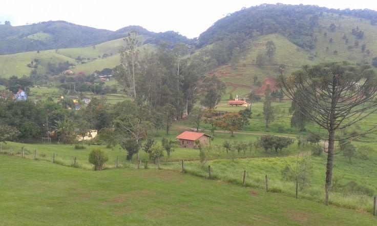Vista da sacada do Chalé Nataly no Hotel Fazenda Santa Rita no interior de SP