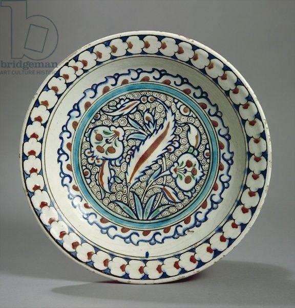 Stone-paste plate, Iznik, Turkey (ceramic) Creator     Turkish School, (16th century)