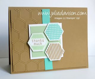 Julie's Stamping Spot -- Stampin' Up! Project Ideas Posted Daily: Six-Sided Sampler + Hexgaon Punch: A Perfect Pair!