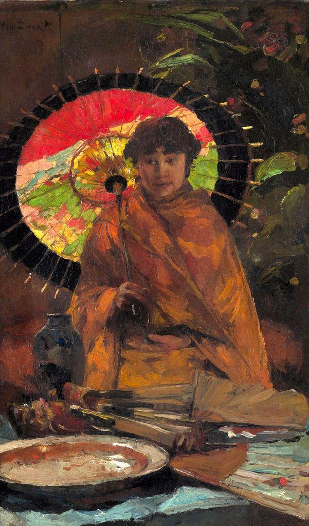 zwart, willem de - Meisje met Japanse parasol - Amber Tree