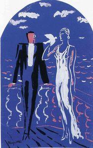 Rene Magritte - Projet pour une peinture murale, Norine Maison, Bruxelles