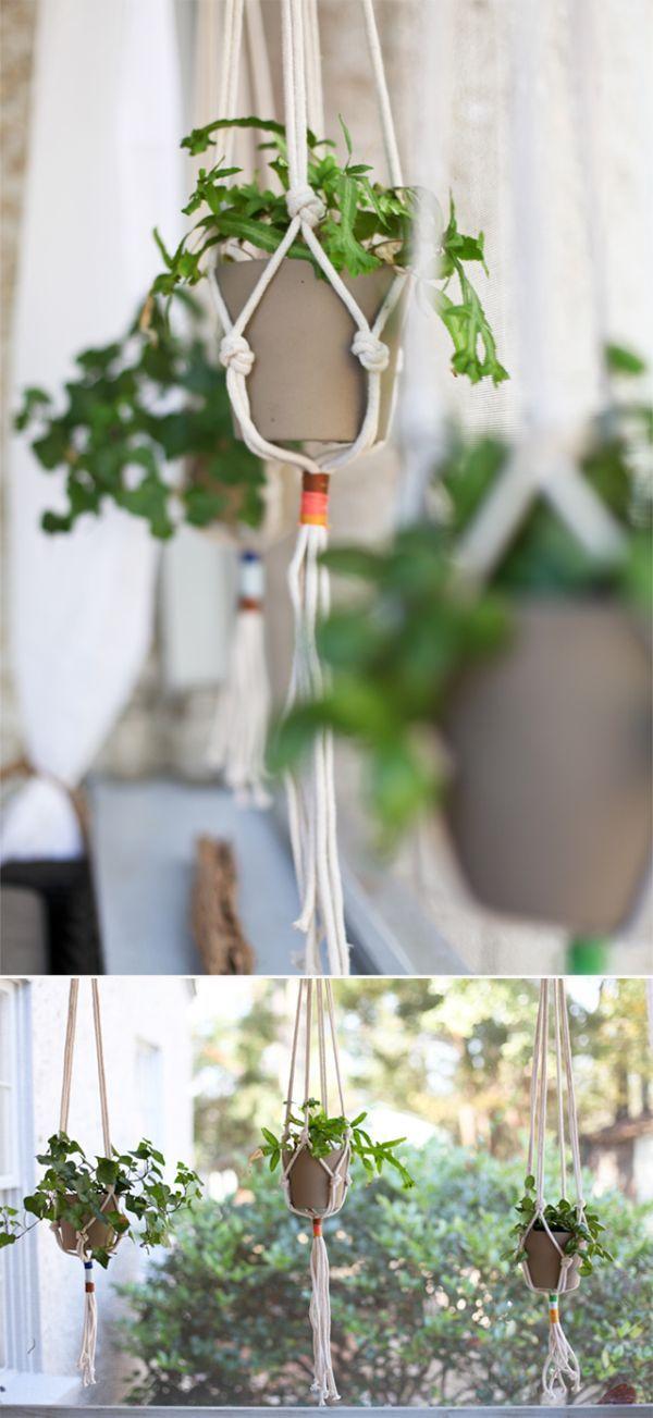 Quelques idées de pots de fleurs pendants   BricoBistro
