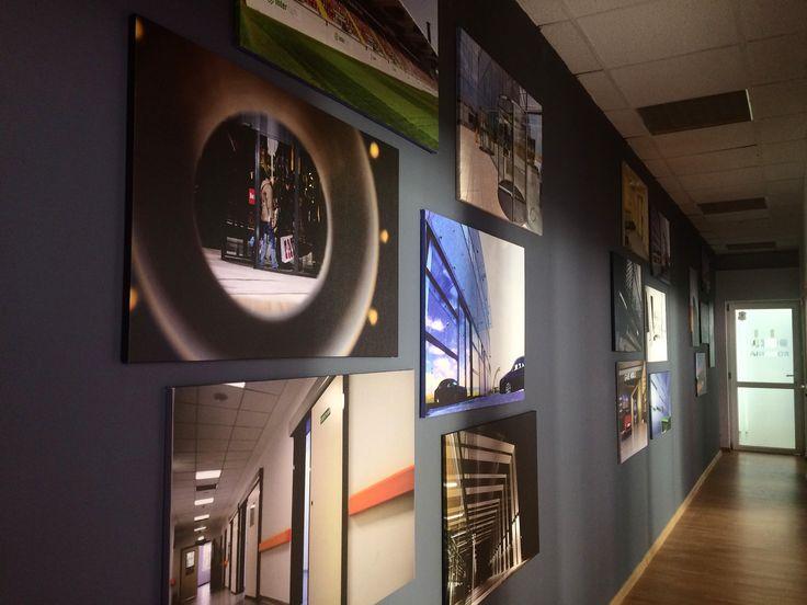 Great wall of Aluterm.  Am pus la loc de cinste proiectele noastre mândre pe care să le putem vedea în fiecare zi la birou.  #proiecteAluterm #biroulAluterm #Alutermpentruoameni