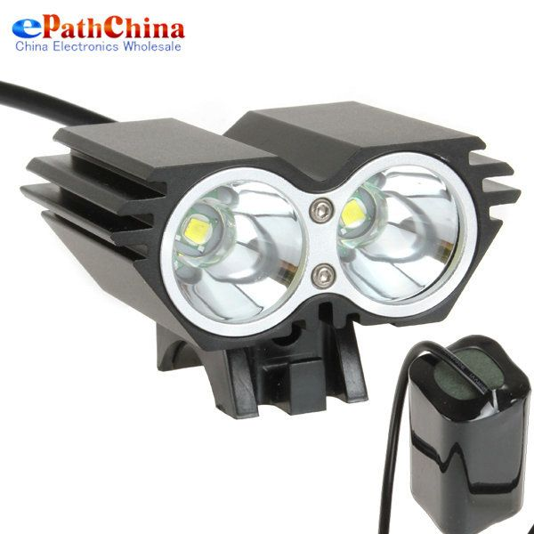 LowestPrice Securitylng 5000 Lumen Waterdicht XML U2 LED Fietslicht Fiets Licht Lamp + Batterij + Lader 4 Schakelaar modi