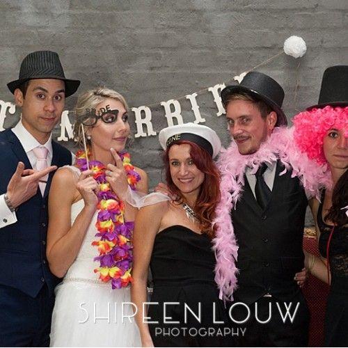 Fun dress up Photo booth at Bakenhof Wedding venue near Stellenbosch, South Africa.