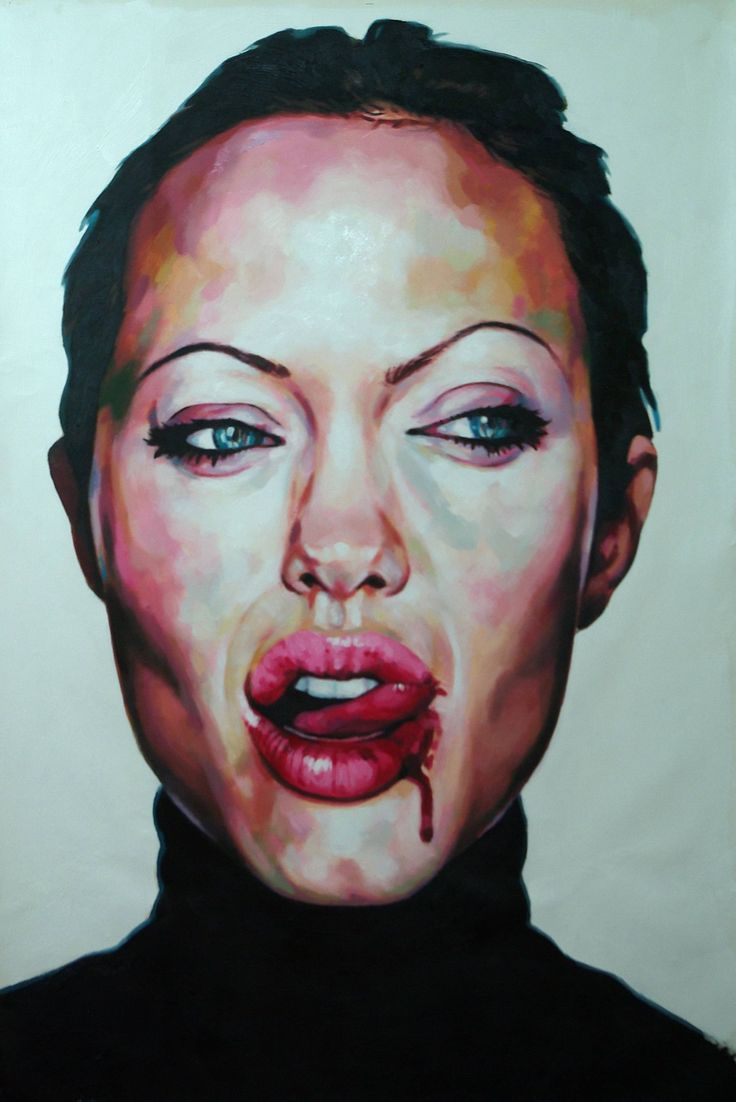 Buy Anglelina, a Oil on Canvas by Thomas Saliot from France. It portrays: People, relevant to: blood, close up, mooth, Angelina, hey heyheyehyheyheyheyheyheyheyheyheyheyheehyehyehyehyeh
