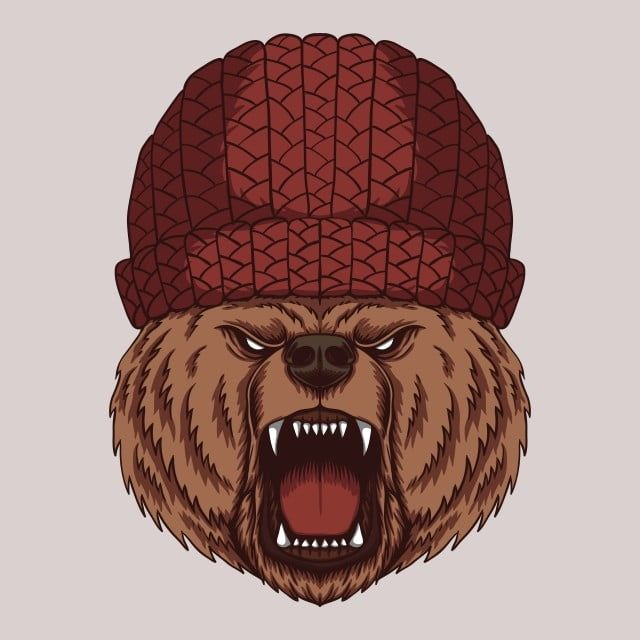 Angry Bear Head Vector Illustration Aggressive Angry Animal Png And Vector With Transparent Background For Free Download