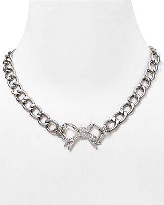 @Hannah Owens bow necklace by Juicy Couture. The chain might be a bit big :-/