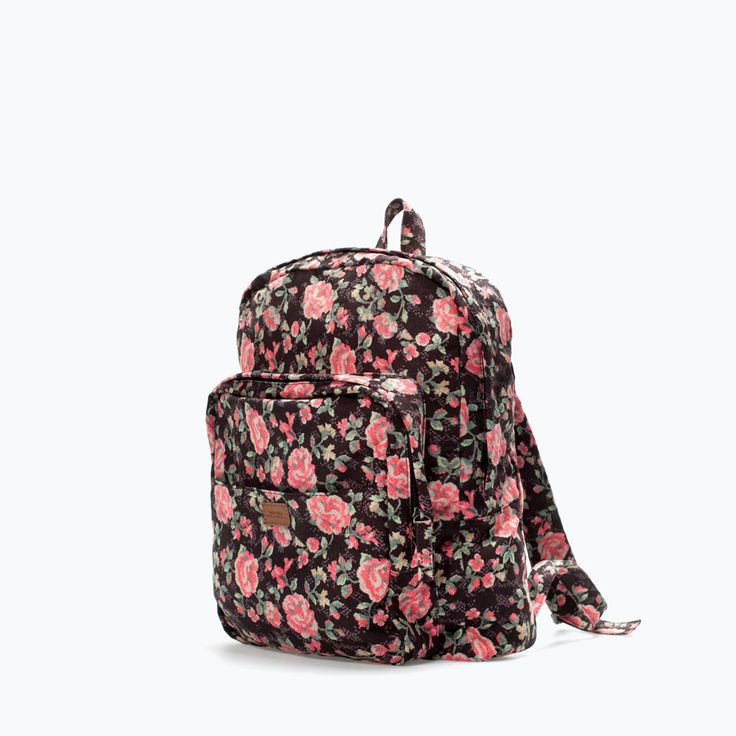 FLORAL PRINT BACKPACK from Zara
