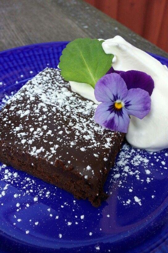 Alldeles underbart god brownie