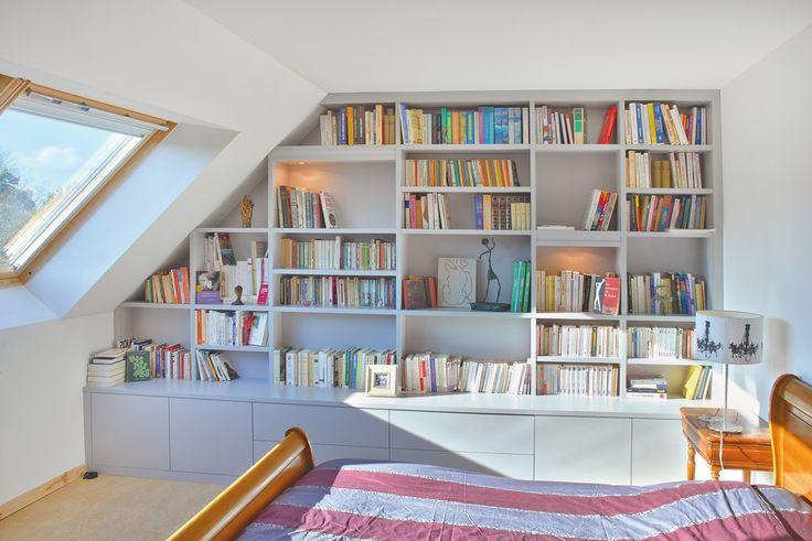 Bibliothèque sur mesure Paris, Nantes, Lorient, Vannes | La Compagnie des ateliers