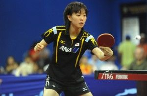 Olympic silver medallist Kasumi Ishikawa - Women's World Cup, held in Japan for the first time. Photos: ITTF.