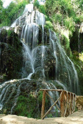 Breathtaking waterfall. Monasterio de Piedra -Aragón  Spain