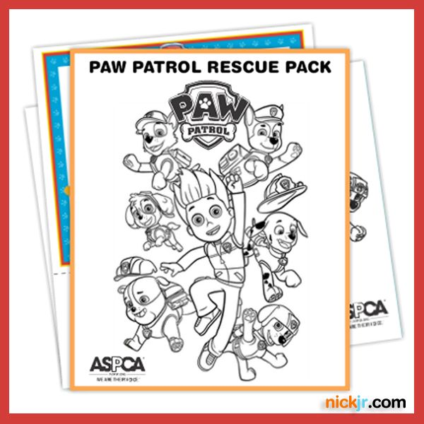 Paw Patrol Coloring Pages Aspca : Best images about paw patrol birthday party on