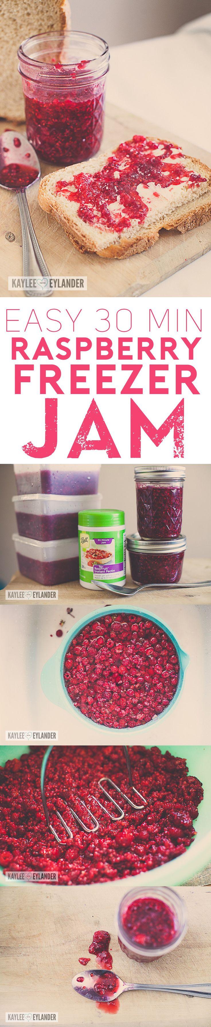 Easy Raspberry Freezer Jam, The easiest Freezer jam that your family will LOVE! Raspberry Jam Recipe