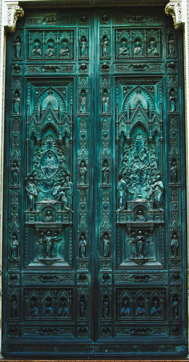 Florence, Italy.  I'm pretty sure this is one of the many doors into the Duomo - at least to the best of my recollection.