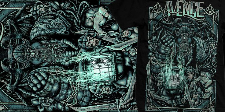 """The Bearer of Light"" t-shirt design by burntilldead"