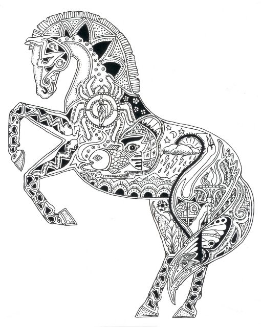 Ff367610768af4e4e6b876f59c881355 510x640 Coloring SheetsAdult ColoringColouringColoring PagesCarousel HorsesColor