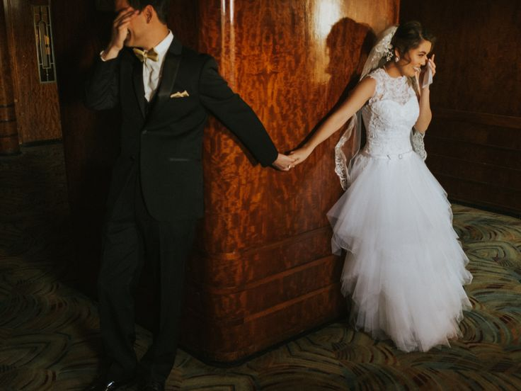Emotional first look in Long Beach California; Queen Mary wedding; PHOTOGRAPHY by Joel + Justyna Bedford;