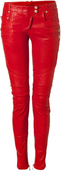 #BALMAIN Lipstick Lowrise Skinny Leather Pants-wow!  Wish I could get away with these w/out looking like a hooker LOL