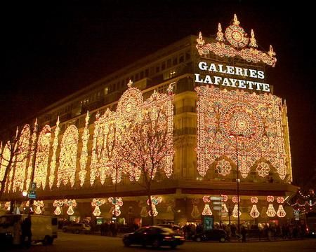 Galeries Lafayette at Christmas Time in Paris