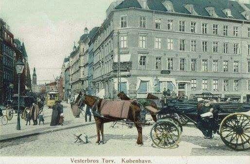 Vesterbros Torv. Gammelt udateret postkort.