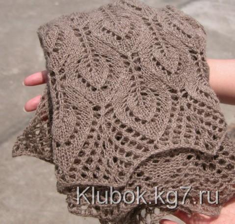 Уютный шарф узором   Клубок