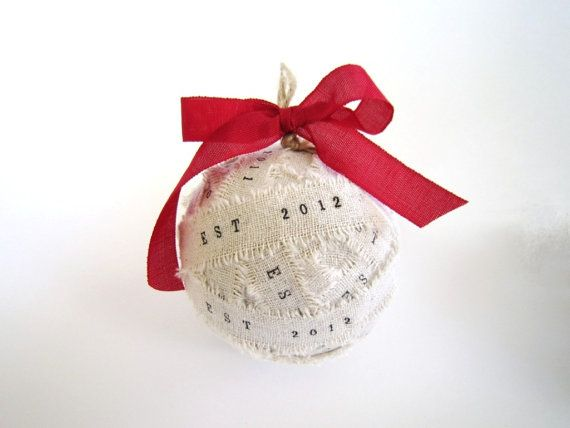 Unique Handmade Christmas Ornaments Set of 2 Personalized by TheLonelyHeart, $30.00