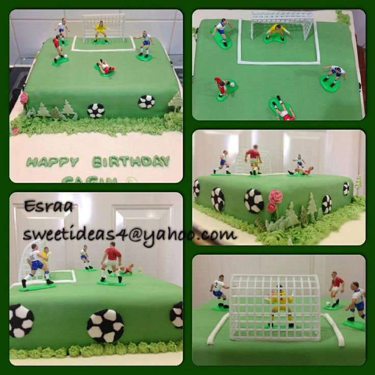 how to make football pitch cake