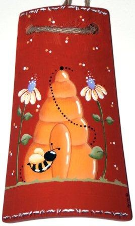 I Ninnoli di Roby e Anto:tegole decorate con tecnica country painting