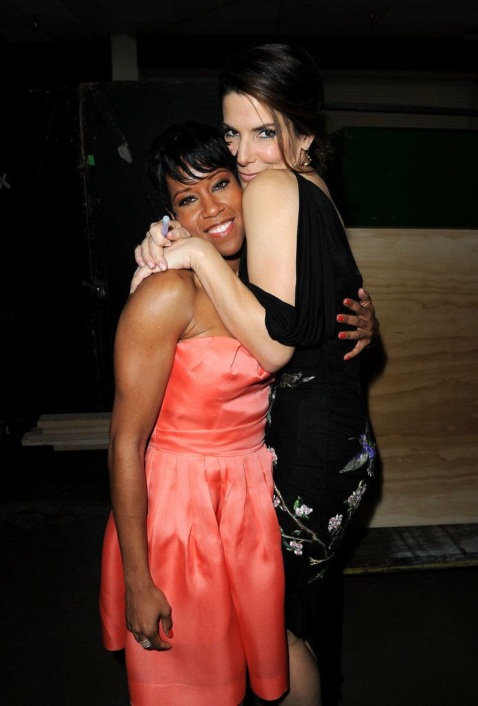 Sandra Bullock and her Miss Congeniality costar Regina King stayed close while backstage at the NAACP Image Awards in February 2010.