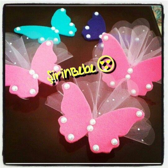 Felt Butterfly kelebek