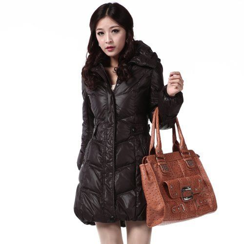 Snow Flying Winter Outerwear Warm Women's Long Hooded Down Filled Jacket XR9158 Bosideng. $101.80