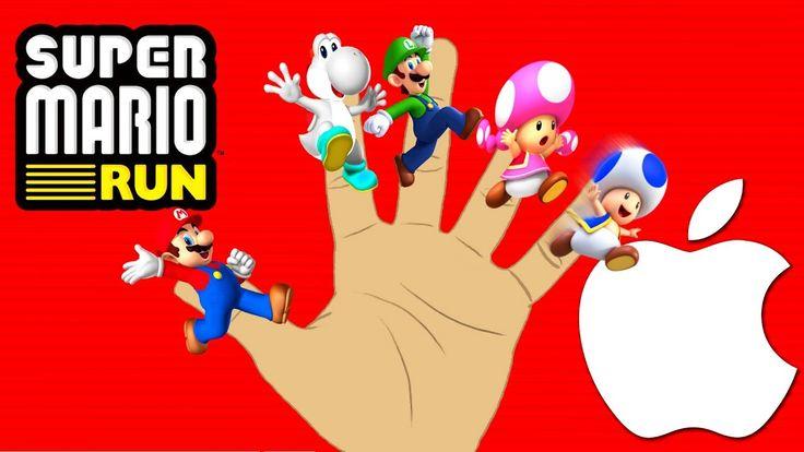 Super Mario RUN English Finger Family Song Collection For Kids