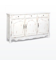 love the distressed sideboard
