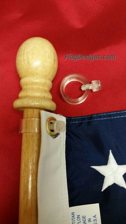 flag pole belt holder