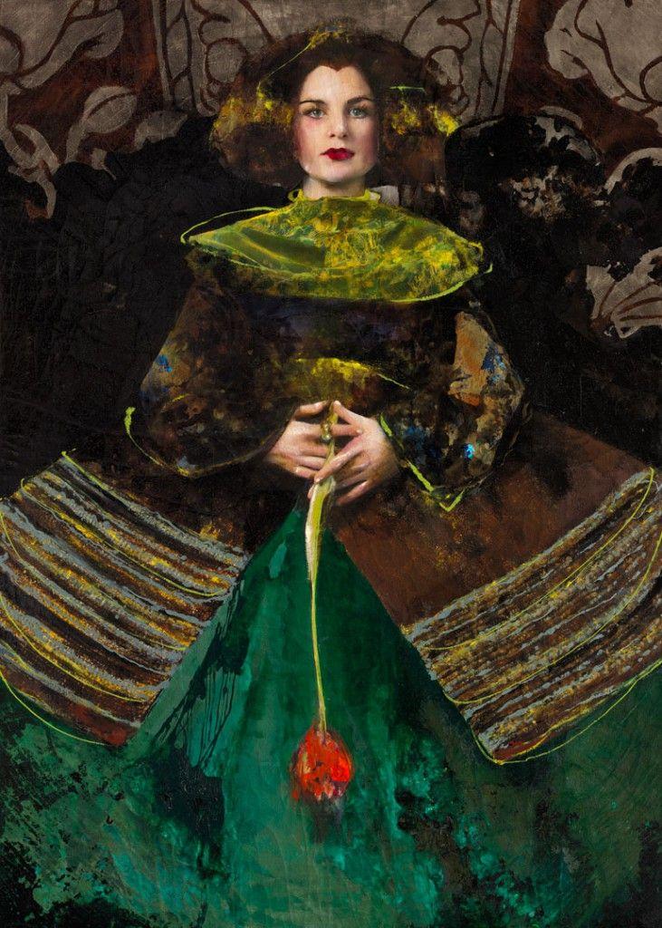 Catharina de Jonge; mixed media on canvas; 280x200 cm