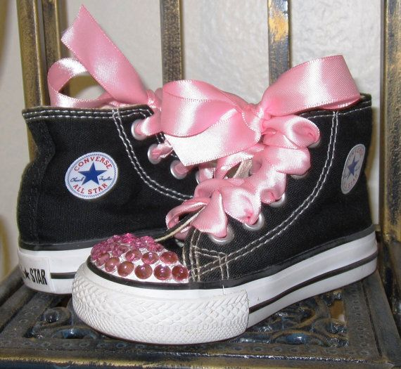 READY TO SHIP  Vintage Baby Girl Converse by LittleMimiLulu, $19.99