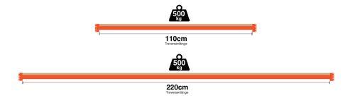 Lagerregal - verschiedene Traversen ✓ Fachlast: 500kg  ✓ 110cm  ✓ 220cm