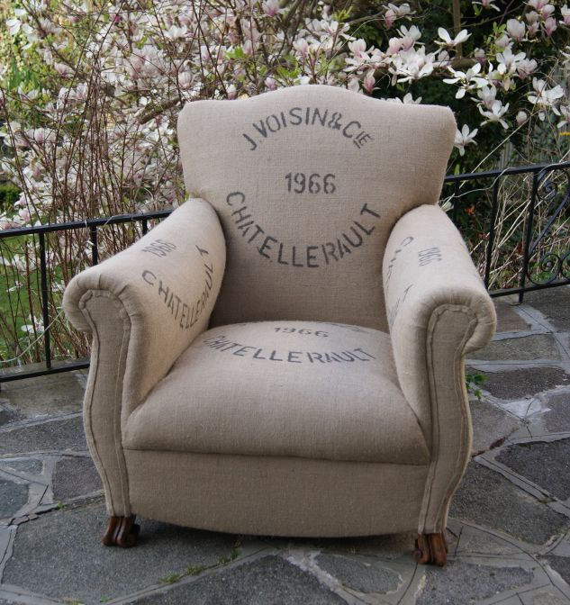 Hessian chair  Not sure how comfortable this would feel!